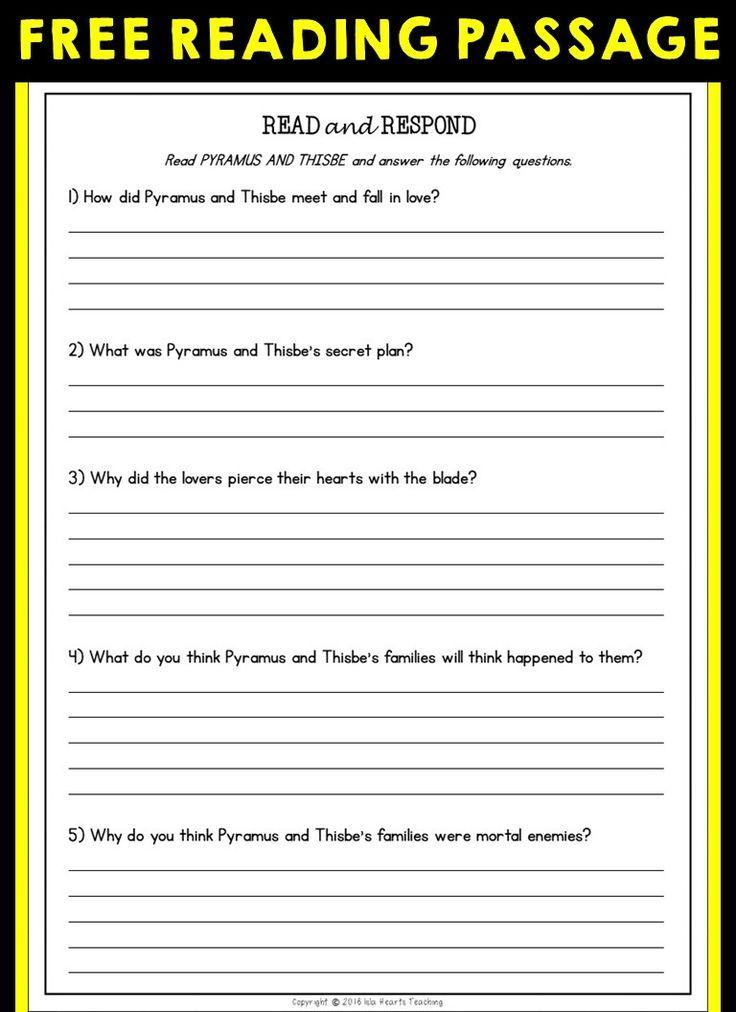 Free Reading Comprehension Reading Comprehension Reading Comprehension Worksheets Reading Worksheets 4th grade ela worksheets