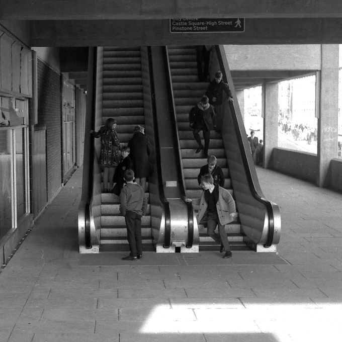 Pond Street - One of the escalators that transported you into the concrete bowels of the Fiesta complex.