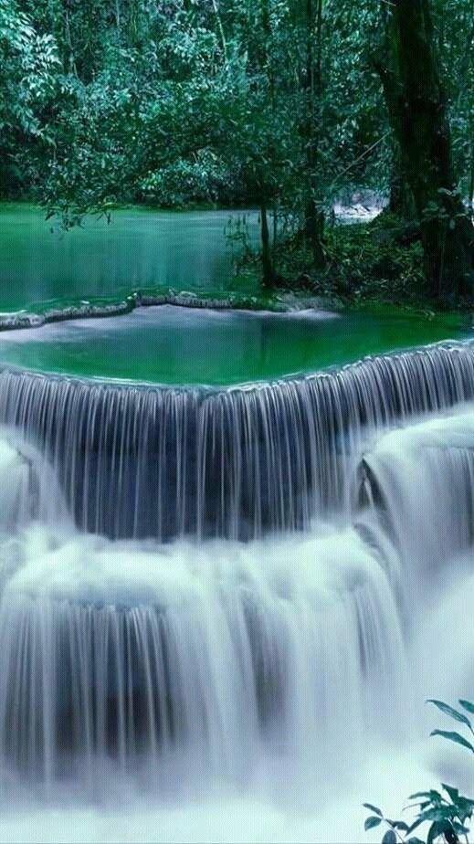 59 ERSTAUNLICHE GEHEIMNISVOLLE WASSERFALLLANDSCHAFTEN; Wasserfall; Naturlandschaft; Wass …   – Malen