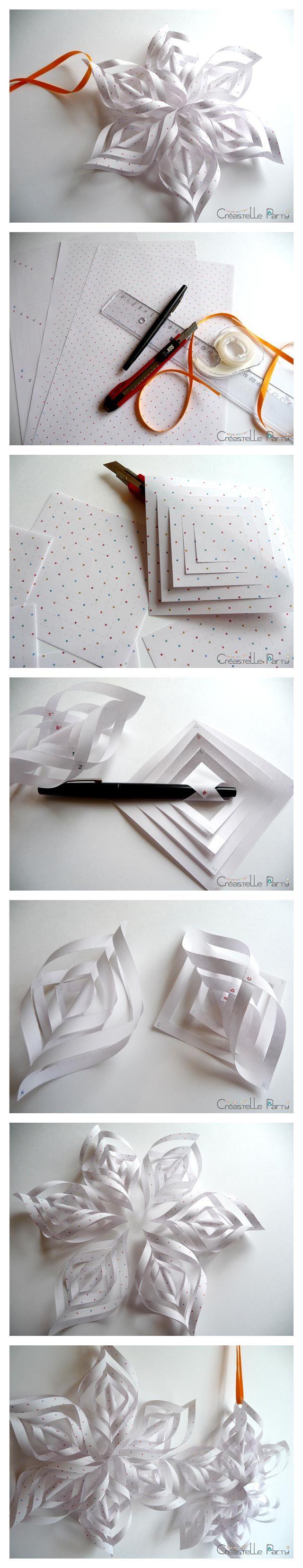 Un flocon de neige en papier
