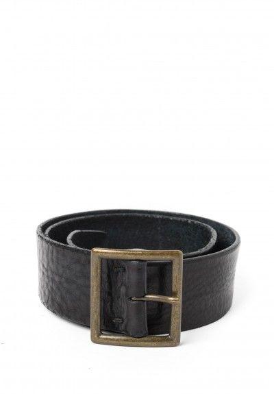 Riccardo Forconi Square Buckle Belt in Black
