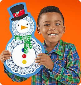 Lacy Snowman from Lakeshore Learning: Children design and create a seasonal friend of their very own—and never have to worry about him melting!