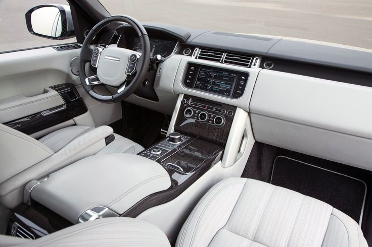 Driving my White Range Rover! Inside interior...
