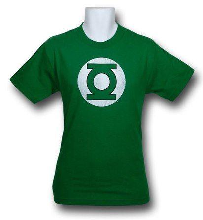 Images of Green Lantern Symbol Distressed T-Shirt
