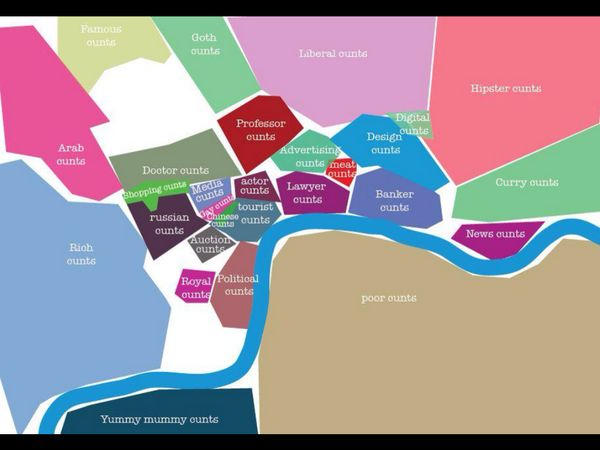 Offensive But Useful Map Of London (NSFW)