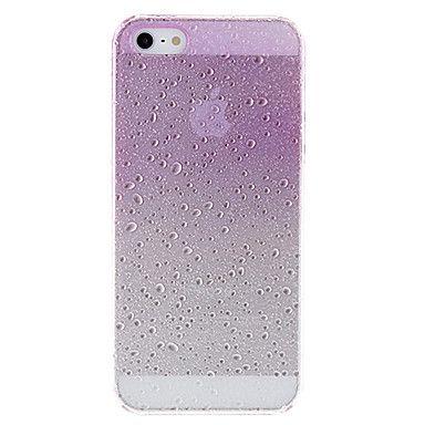 Diseño especial del patrón de agua caída caja dura transparente ultrafina 3D para el iPhone 5/5S (colores surtidos) – USD $ 2.99