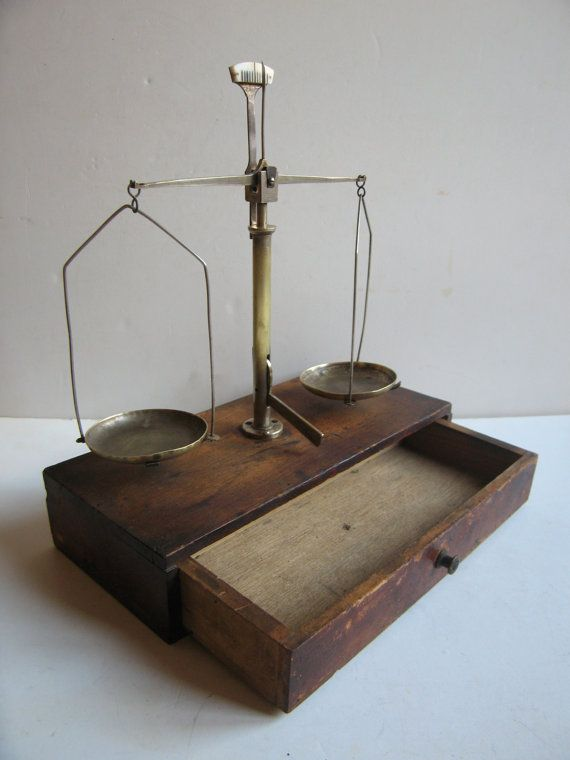 antique apothecary balance scale by RetroDecoShop on Etsy, €140.00
