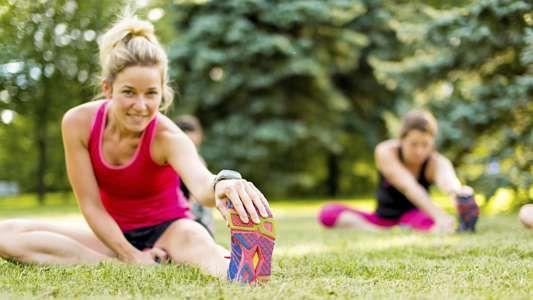 Etirement après un jogging