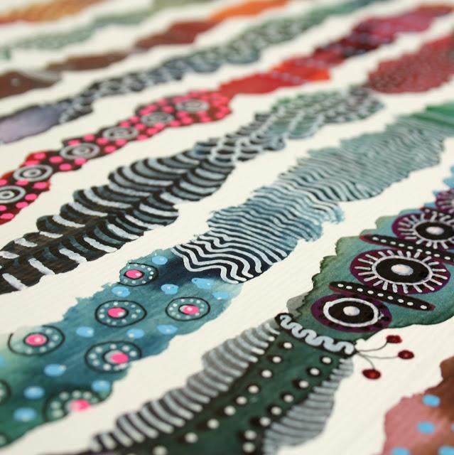 art pattern watercolor