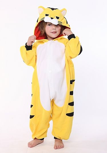 Tiger Kids Animal Onesie Costume