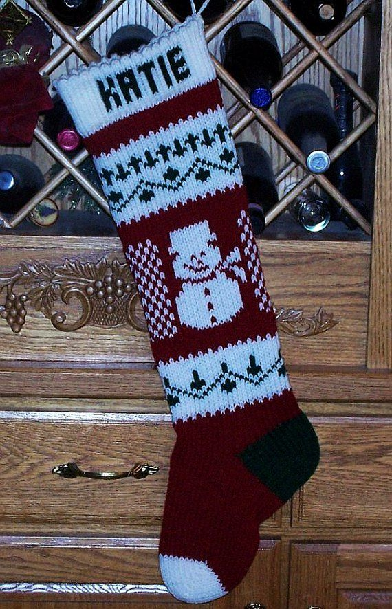 Knitting Pattern Christmas Stocking
