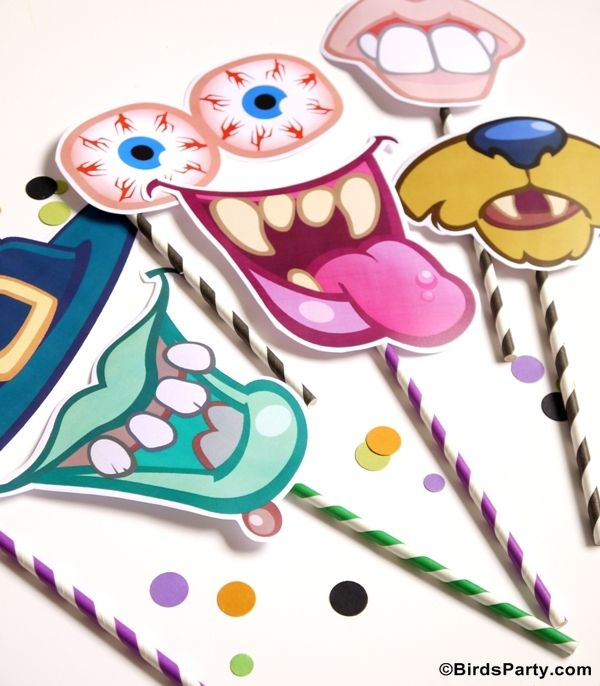 monster photo props - free printables