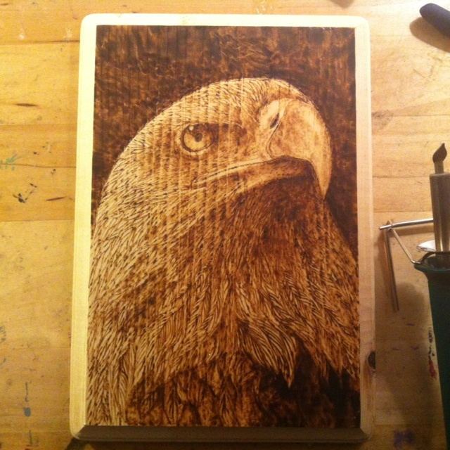 Another piece of wood burning art from my friend.