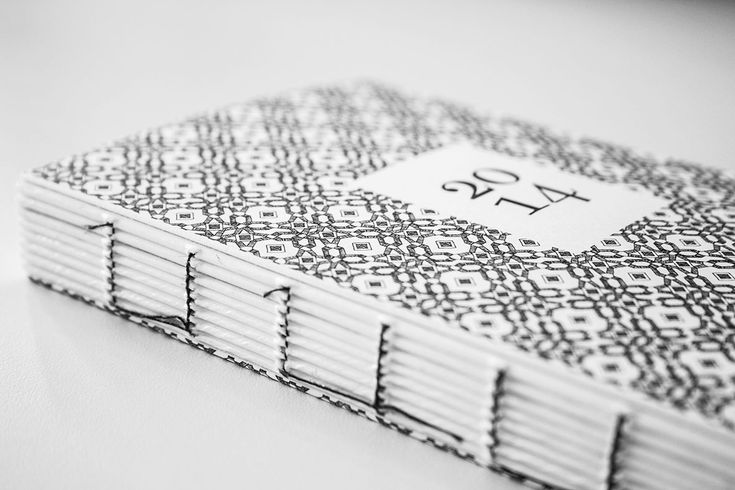 Designkalender Illustrationen 2014, book binding