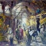 Schilderij ,afb; de grote bazar te Instanbul , AVNI LIFIJ