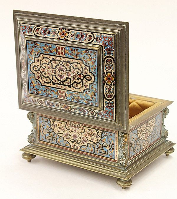 Continental Renaissance style champleve decorated - by Clars Auction Gallery