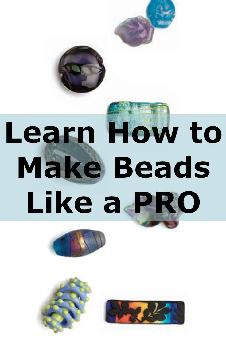 Learn how to make beads like a PRO with these FREE projects on handmade beads. #beading #beadmaking #DIY