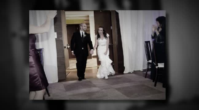 'Katie + Josh the reception'. Click to watch the video!