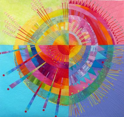 """Radiant Orb"" quilt - Melody Johnson"