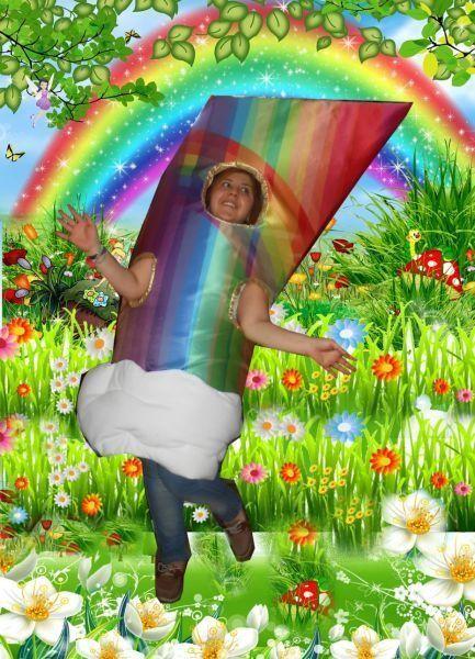 Gökkuşağı Maskot Kostümü Rainbow Mascot Costume