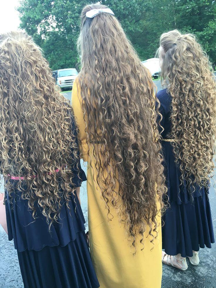 Beautiful hair genesis long hair too the floor curly hair
