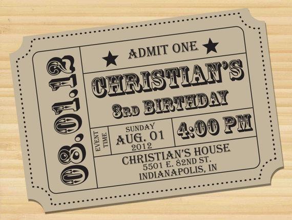 Save the Date // Ticket // Wedding // Reception by styledbykristen, $15.00
