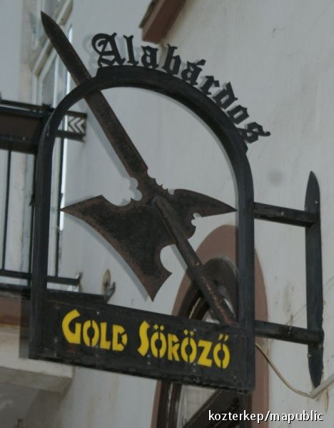 Pub sign - Eger, Hungary