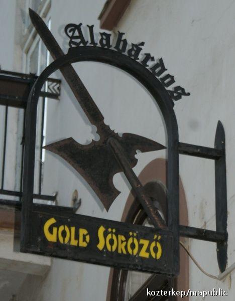 Pub sign - Eger, Hungary