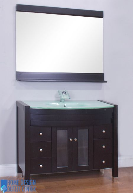 This Product Is A Fine Example Of Modern Bathroom Vanity With 42 X 33 5 22 Inches Cabinet Espresso Color ¾ Tempered Safety Gl Top