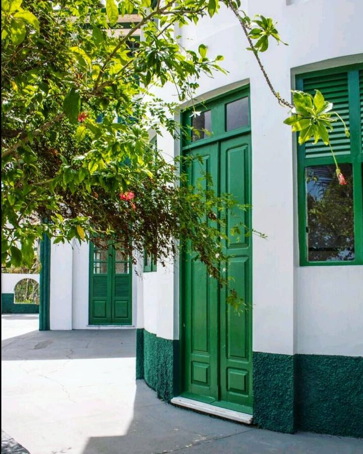 #doorsandwindows_greatshots #door #hotel #green #whitehouse #beautiful #flowers #flores #landscaping #paisagismo #mosqueiro #belemdopara #brasil #brazil
