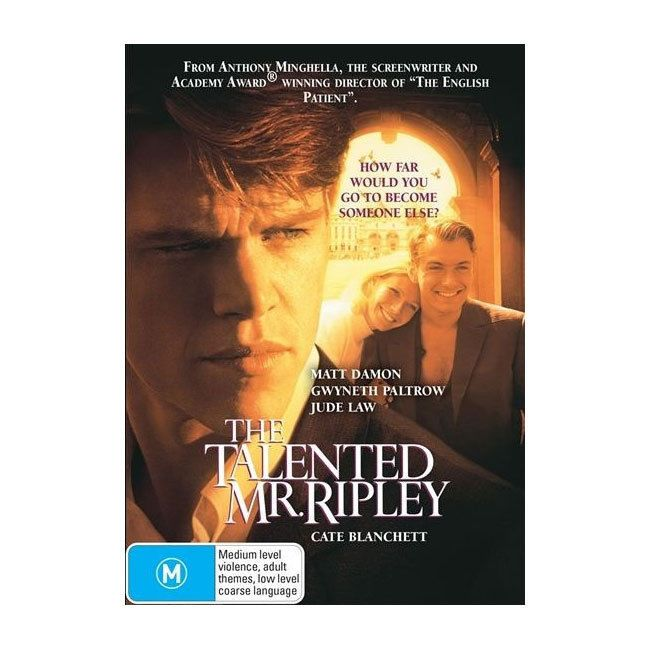 The Talented Mr. Ripley  DVD  Brand New Aus Region 4 Matt Damon, Gwyneth Paltrow