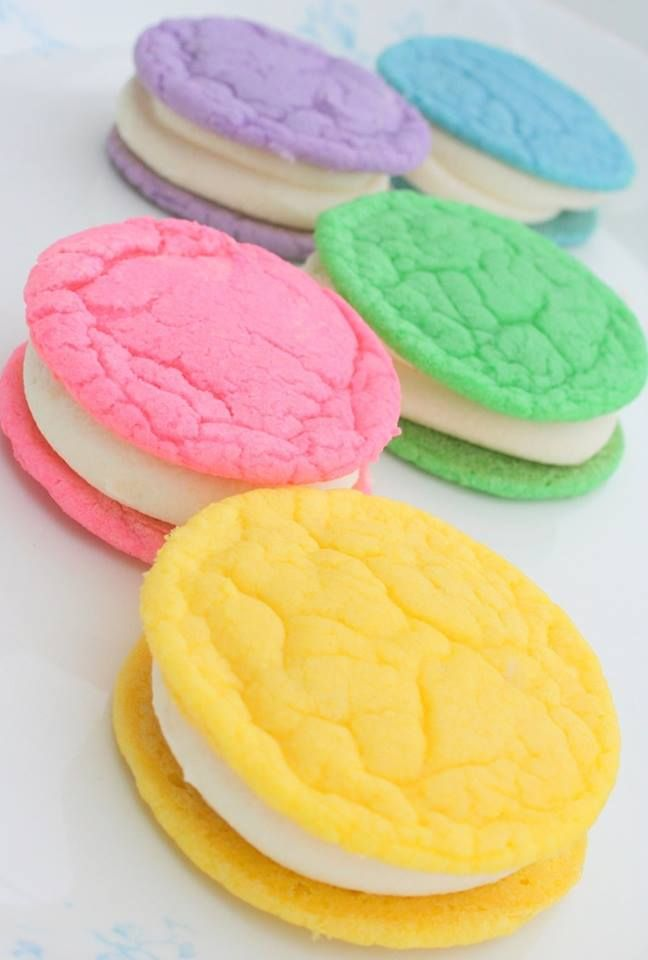 Cute and easy- Heather, just use a Betty Crocker Sugar Cookie mix and dye it different colors using Wilton food coloring.