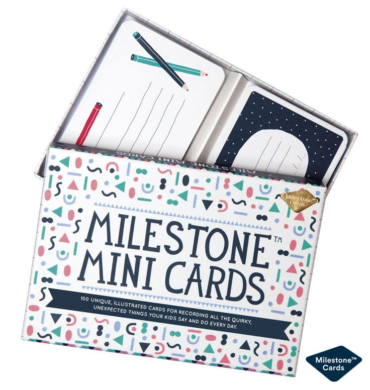 Perfect gift for kids and parents: Milestone™ Mini Cards http://www.milestonecards.com/milestone-mini-cards/