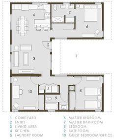 99 best u shaped house plans images on Pinterest | Spanish ...