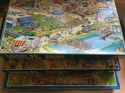 Lot-3 Jigsaw Puzzles-Camping Chaos-The Post Office-In Days of Old-J V Haasteren Toys & Games:Jigsaws & Puzzles:Jigsaws #forcharity