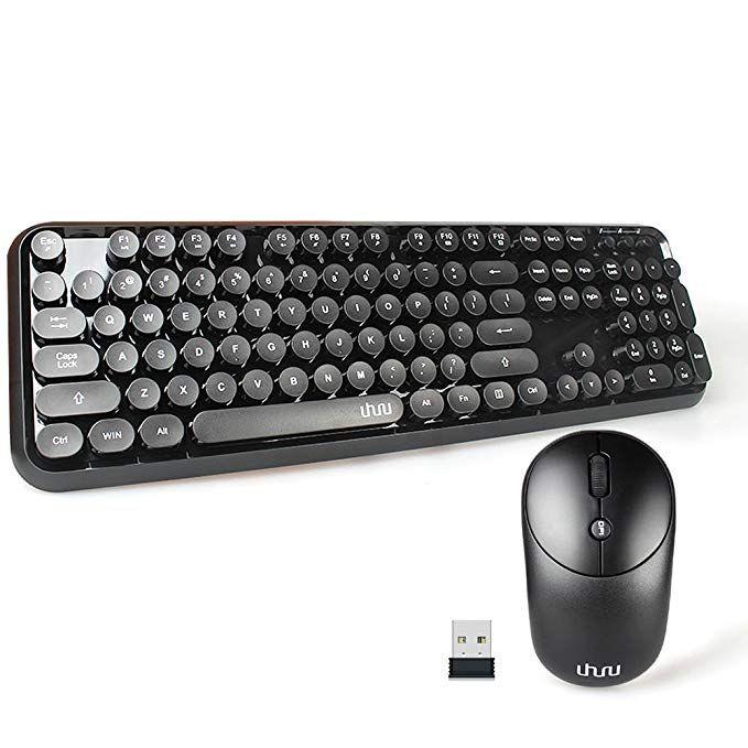 Wireless Keyboard And Mouse Uhuru Wireless Full Size Keyboard And Cordless Mouse With Comfortable Round Key And Smart Power Cordless Mouse Keyboard Save Power