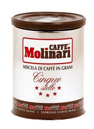 Molinari Cinque Stelle szemes, 250gr