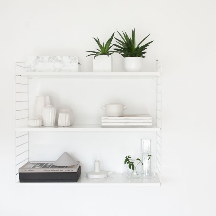 String shelf styling inspiration from Decordots blog