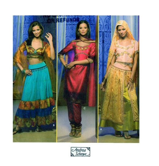 Adult Costume Simplicity 4249 Genie, Belly Dancer, Esmeralda, Jasmin, Bollywood, Middle Eastern Harem Dance Theater Drama Large 14-16-18-20 by FindCraftyPatterns on Etsy https://www.etsy.com/listing/204993414/adult-costume-simplicity-4249-genie