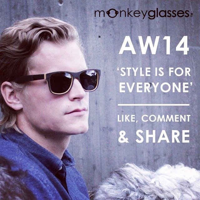 Go to facebook.com/monkeyglasses to join the competition to win YOUR favoirite pair of monkeyglasses from the AW 14 collection. All you need to do is like the top post and comment what your favorite style is. #competition #win #sunglasses #glasses #prize Style is for everyone.