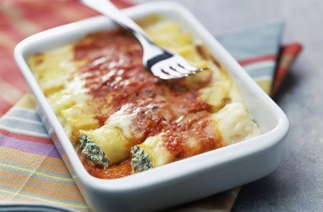Ricotta And Spinach Cannelloni Recipe on Yummly