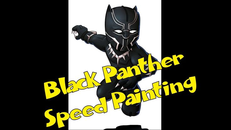 Speed drawing: Black Panther - From Captain America Civil war