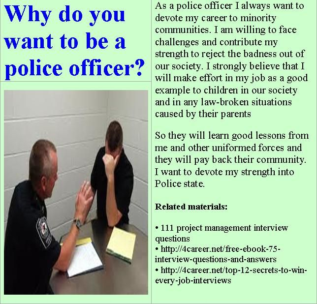 16 best police cadet interview questions images on Pinterest - military police officer sample resume