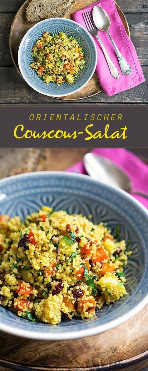 Orientalischer Couscous-Salat mit geröstetem Gemüse   Madame Cuisine Rezept
