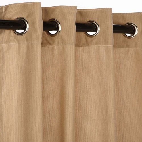 Sunbrella Curtain with Grommets Spectrum Sand