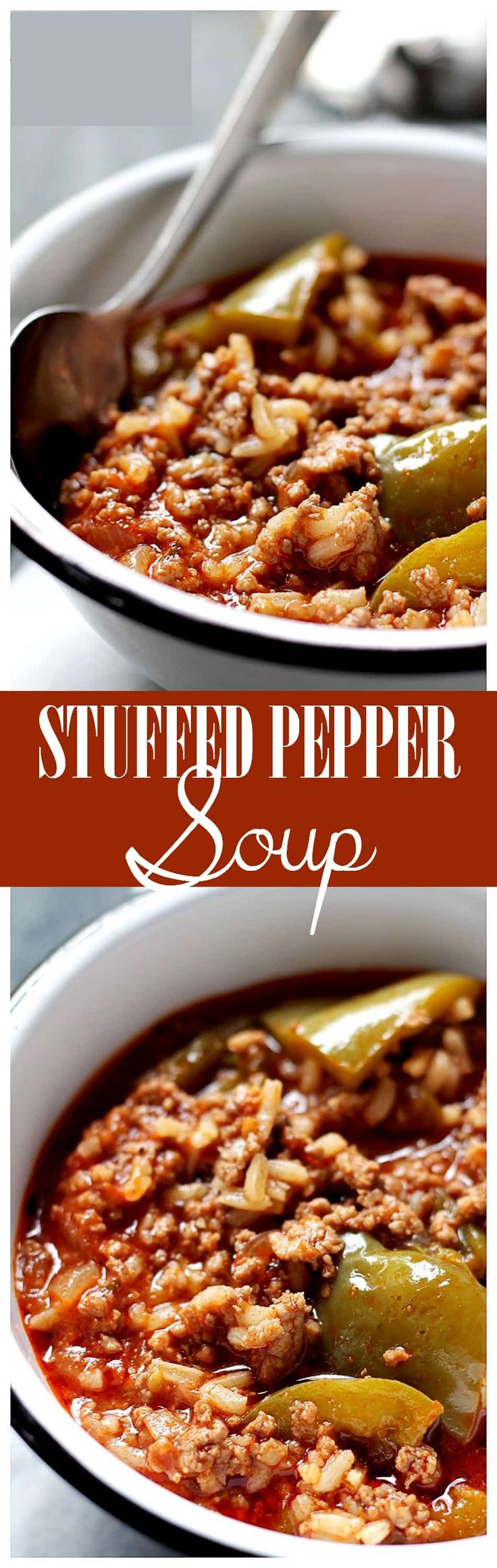 Stuffed Pepper Soup - Hearty, comforting, warm and incredibly flavorful, Stuffed Pepper Soup.