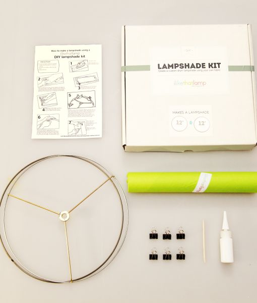 From this brand new source, a complete kit for making your own lampshade with your own fabric. I met Kiri last week and thought this a great idea instantly. Her site sells all the basic things you need and has tutorials. This is the basic kit to get you started.