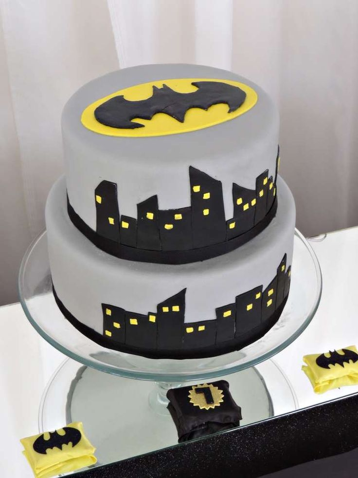Awesome cake at a Batman birthday party! See more party ideas at CatchMyParty.com!