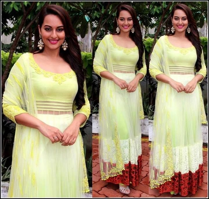 Sonakshi Sinha wears the sunny palette with grace.