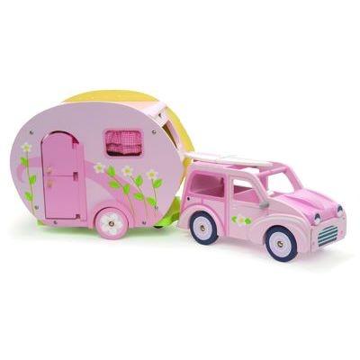 Le Toy Van Rosalea Car And Caravan For Doll